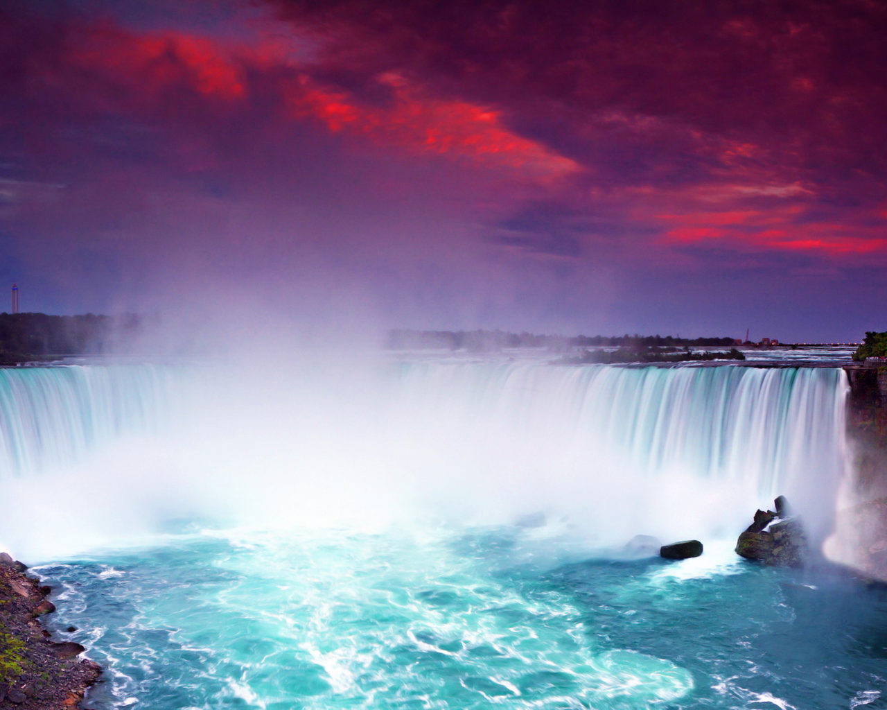 Beautiful Niagara Falls Wallpaper Niagara Falls At Night Lights Hd Wallpaper For Desktop