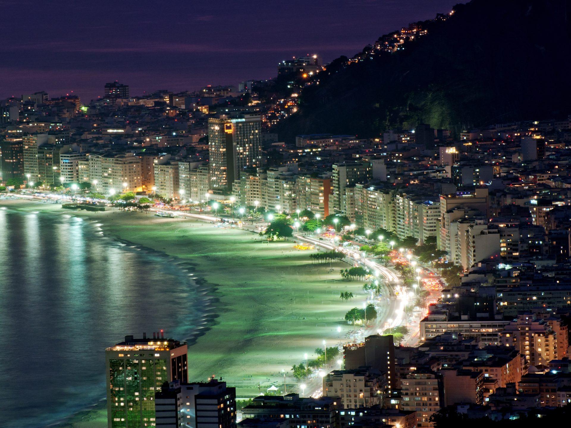 Rio De Janeiro Wallpaper Iphone Rio De Janeiro At Night 7976954 Wallpapers13 Com
