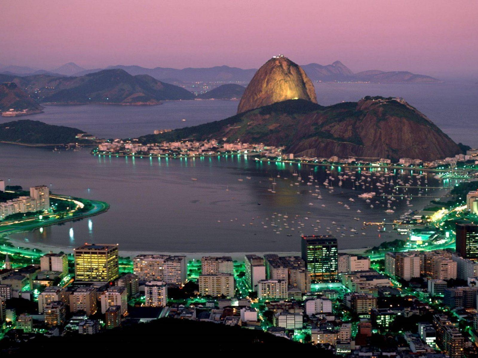 Wallpaper For Iphone 5 Home Screen Rio De Janeiro At Night Wallpaper Hd 235364 Wallpapers13 Com