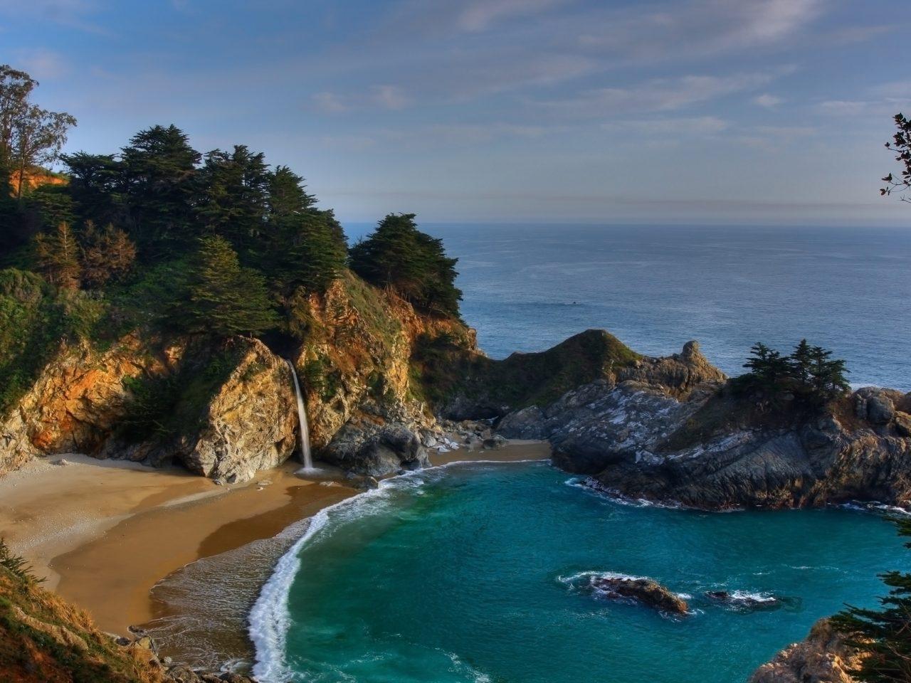 Falls Wallpaper Download Sea Coast National Park Big Sur 0965 Wallpapers13 Com
