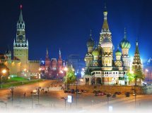 Spasskaya Tower And St Basil' Cathedral Red Square