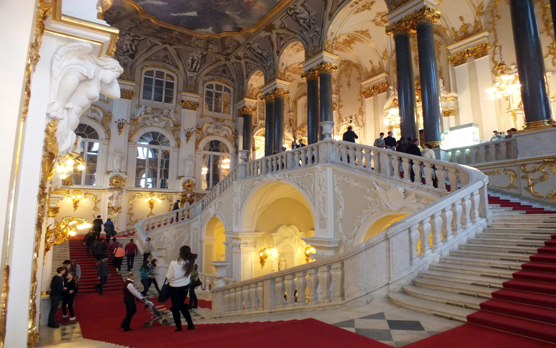 Wallpaper Inside Iphone X The Jacob Staircase Inside The Winter Palace