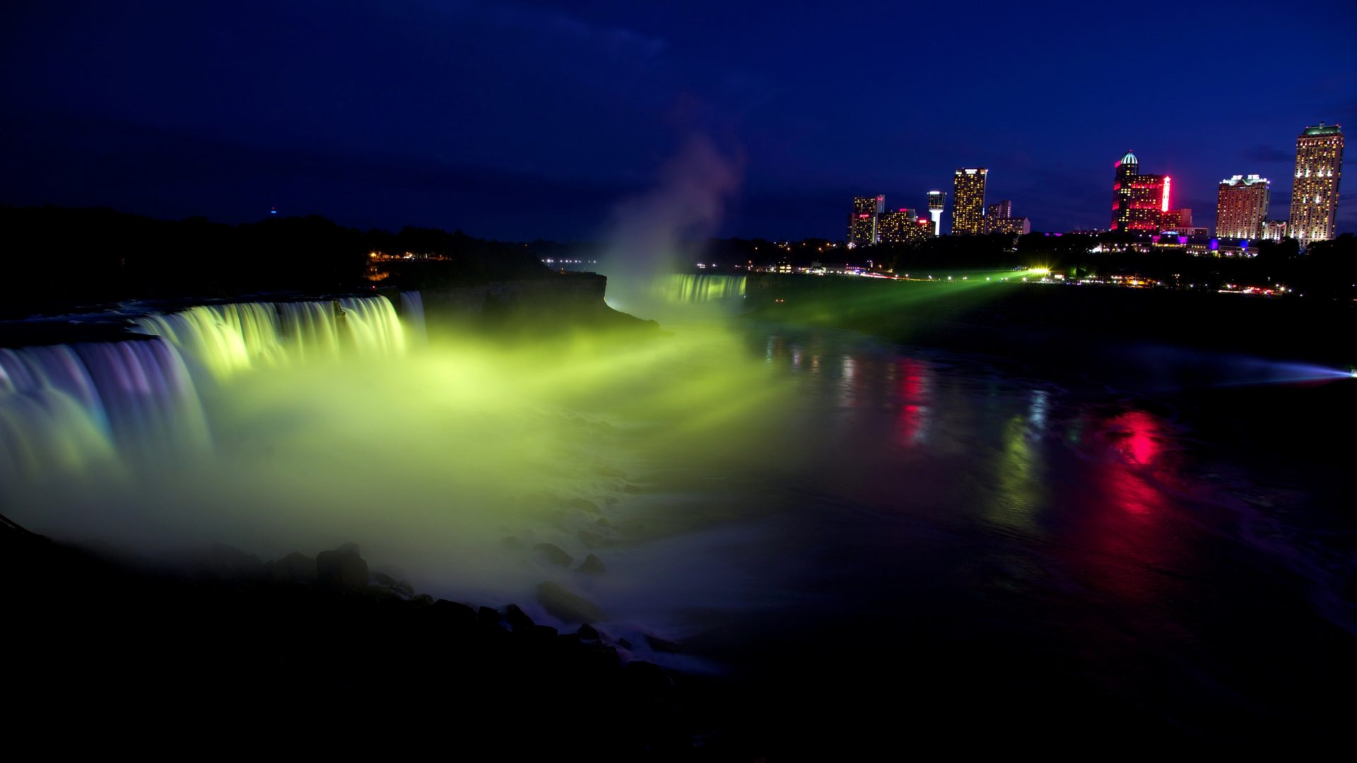 Free Wallpaper Niagara Falls Usa Waterfalls Rivers Niagara Falls Night Nature 411998