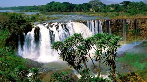 waterfalls-blue nile in ethiopia-africa-tropical