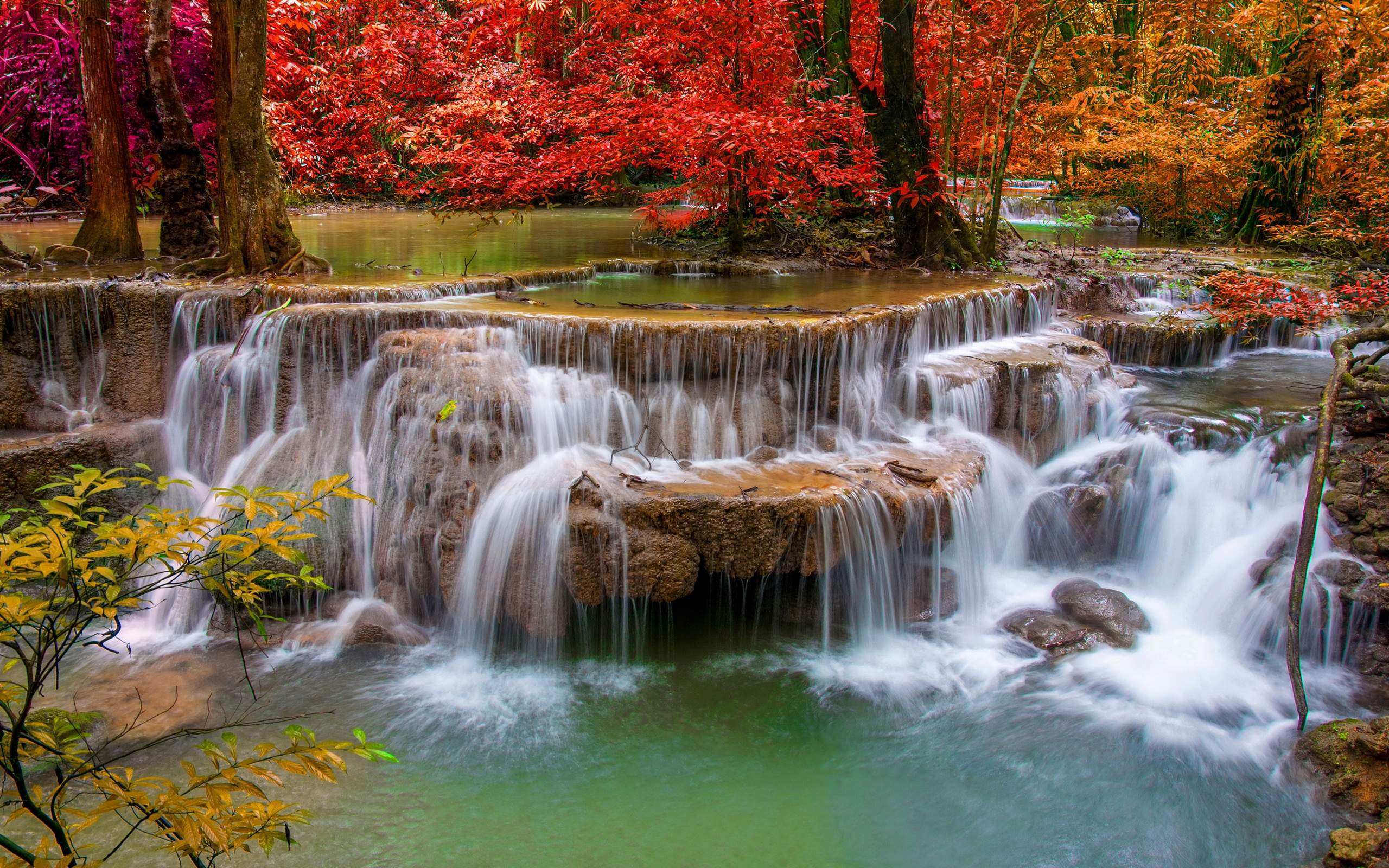 Fall Scene Wallpaper For Iphone Waterfalls Seasons Autumn Nature 4030 Wallpapers13 Com