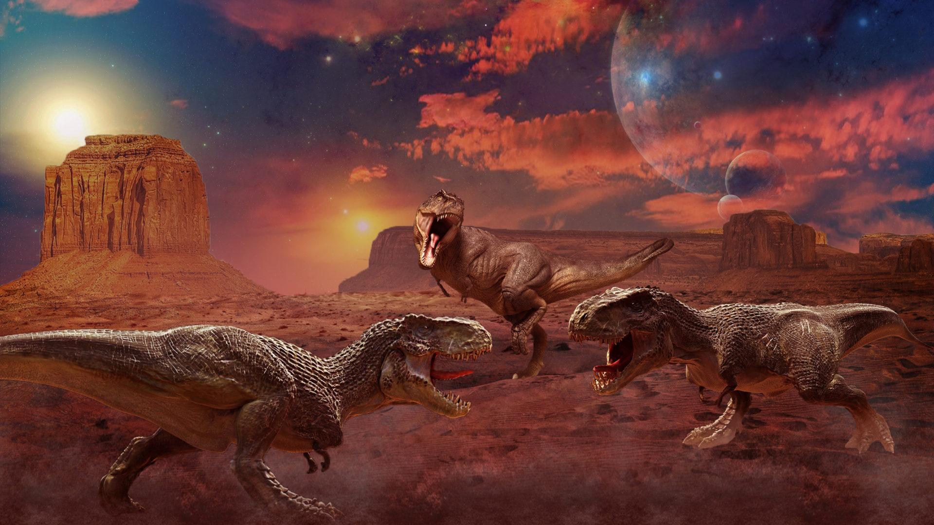 Dragon Wallpaper Cute Ancient Animals Dinosaurs Painting Art Three 3 Animals Hd