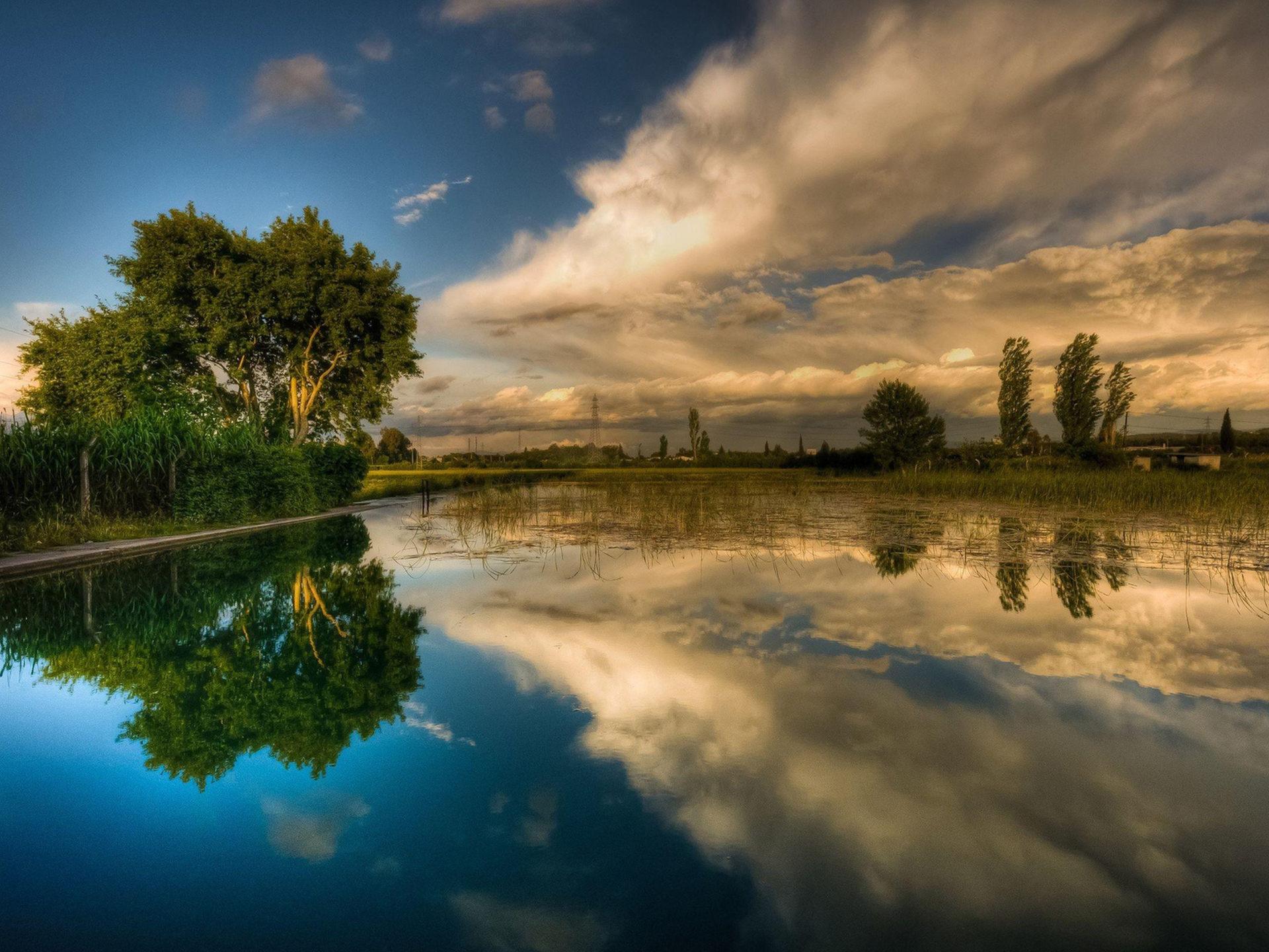Hd Cars Wallpaper Iphone Background Lake Sky Reflecting Hd Wallpaper 15903
