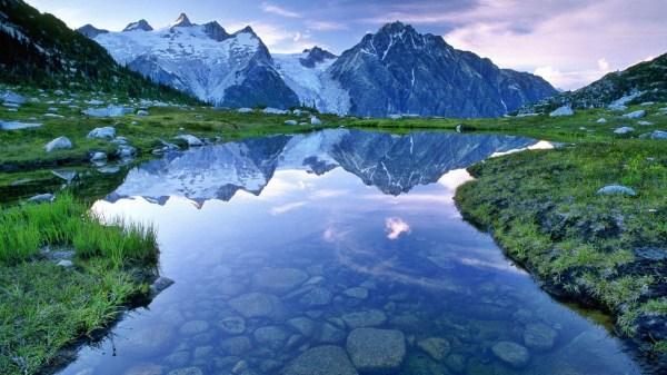 Beautiful Mountain Lake Landscape