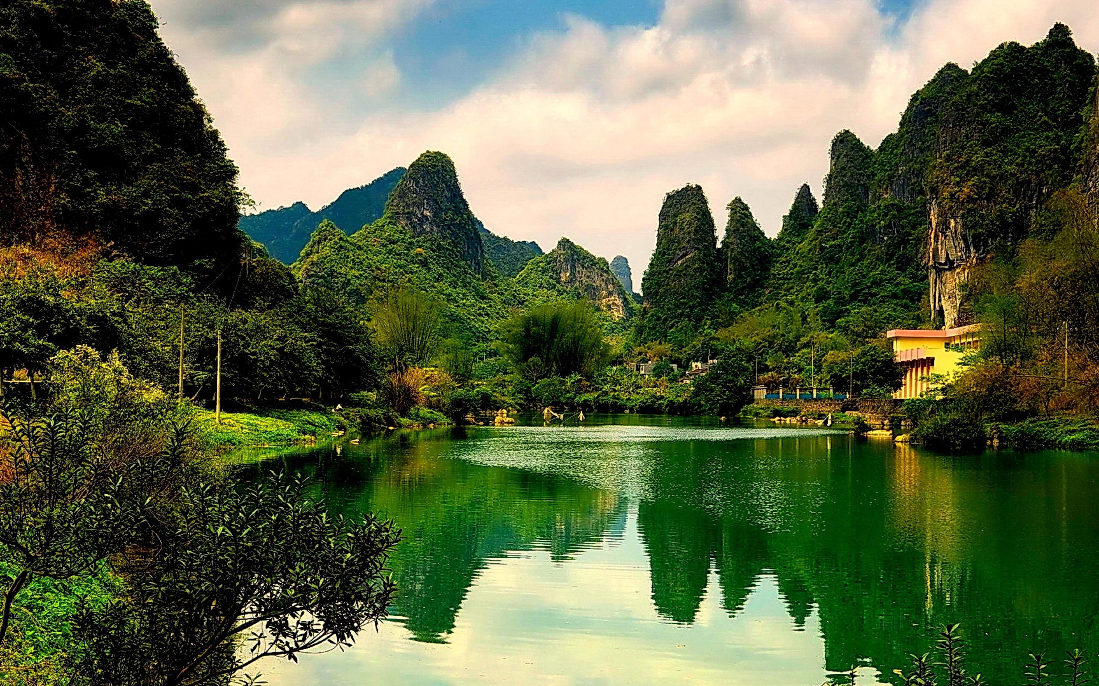 Nature Green Lake Hd Wallpaper  Wallpapers13com