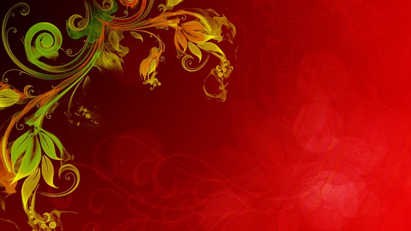 Falling Water Wallpaper Free Download Floral Vector Red Background Hd Wallpapers13 Com