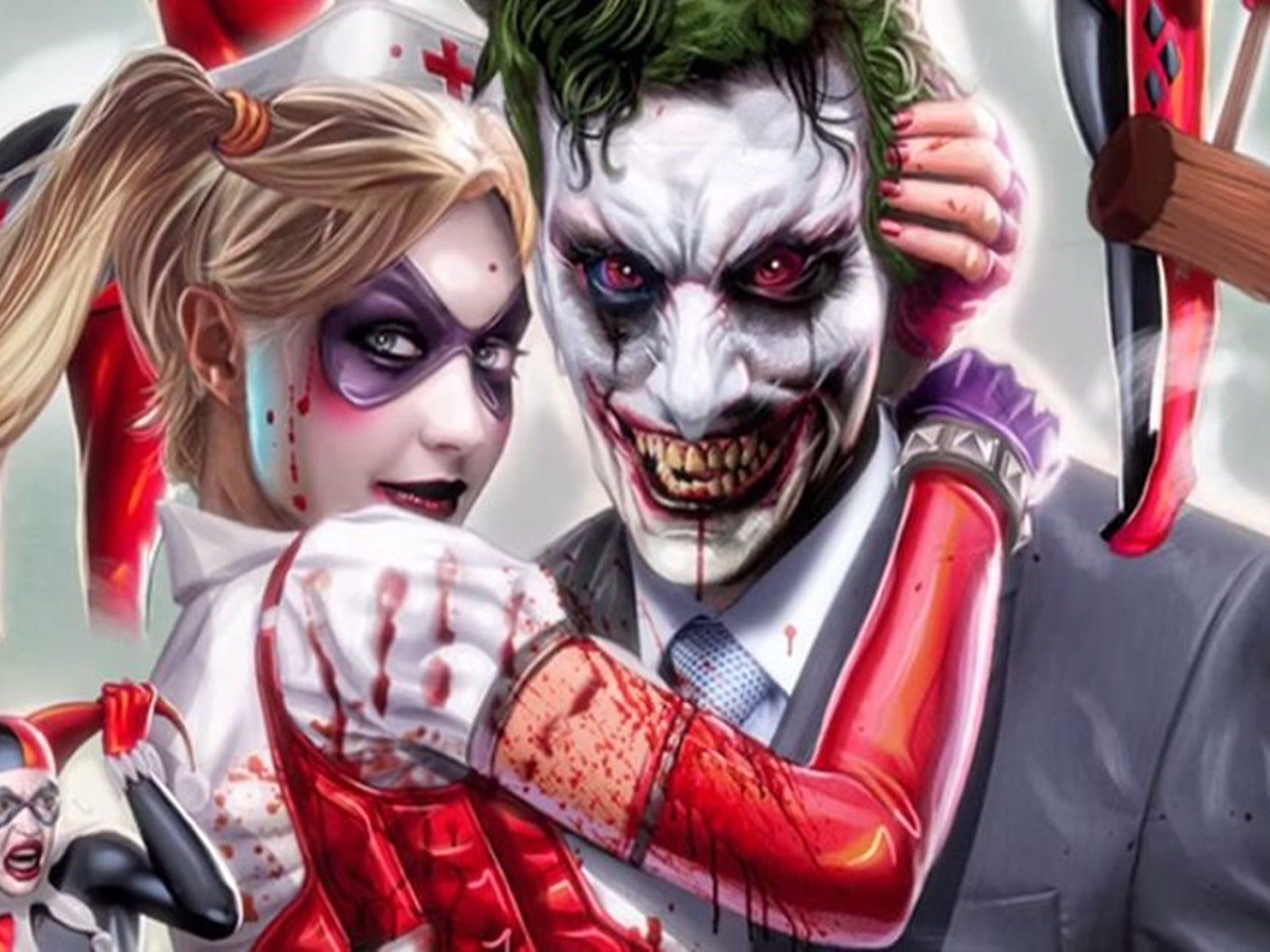 Joker  Harley Quinn Vs Deadpool  Domino Wallpaper Hd