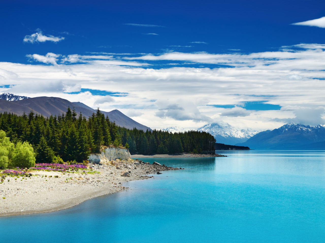 Fall Wallpaper Lake Mount Cook And Lake Pukaki New Zealand Beautiful Hd
