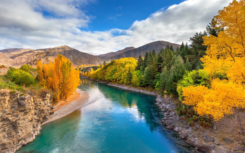 Fall Road Wallpaper Landscape Wallpaper Hd Emerald River Queenstown New