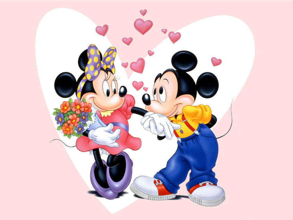 mickey mouse and minnie love couple wallpaper hd wallpapers13 com