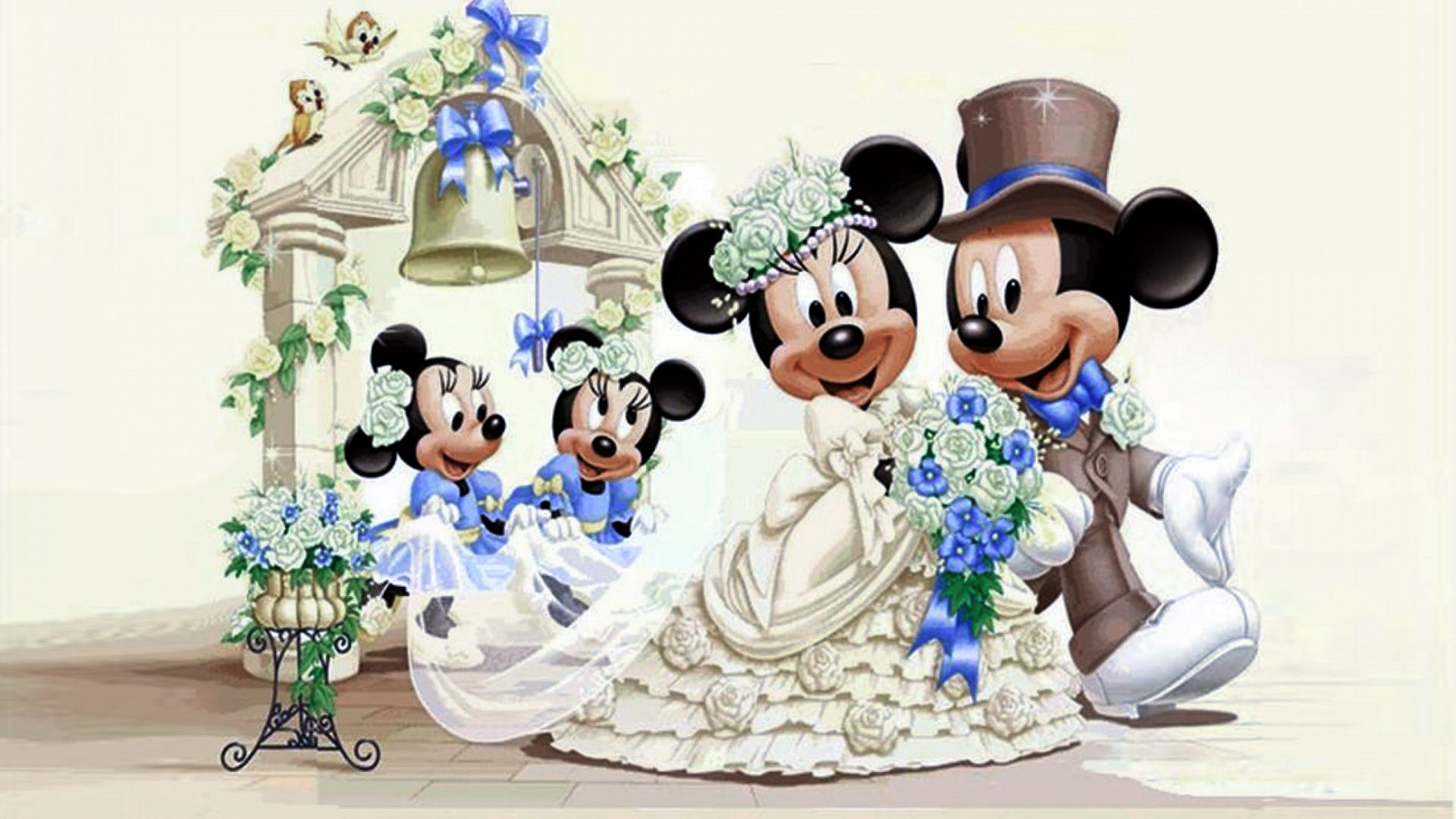 Cute Mickey Mouse And Minnie Mouse Wallpaper Mickey Mouse And Minnie Mouse Wedding Wallpaper Hd