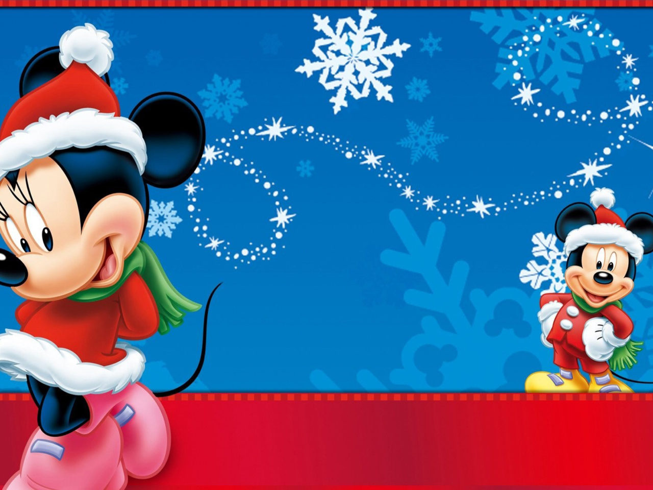 Minnie And Mickey Mouse Christmas Wallpaper Hd