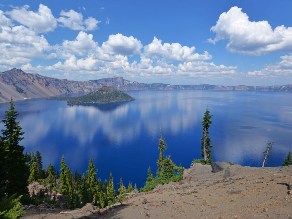 View Of Crater Lake National Park Oregon Usa