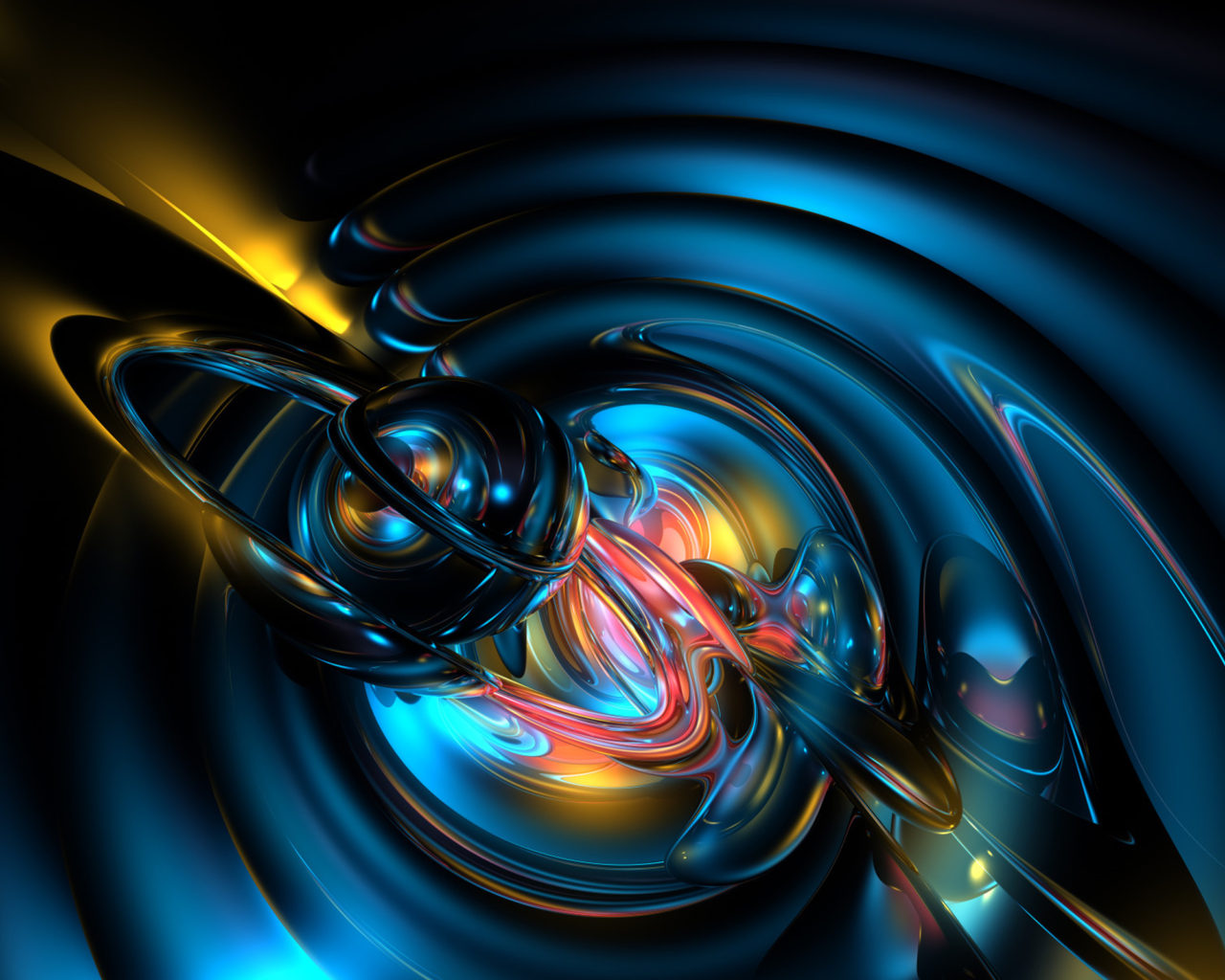 Cute Circle Wallpaper Abstract 3 D Blue Graphics Art Works Hd Wallpapers For