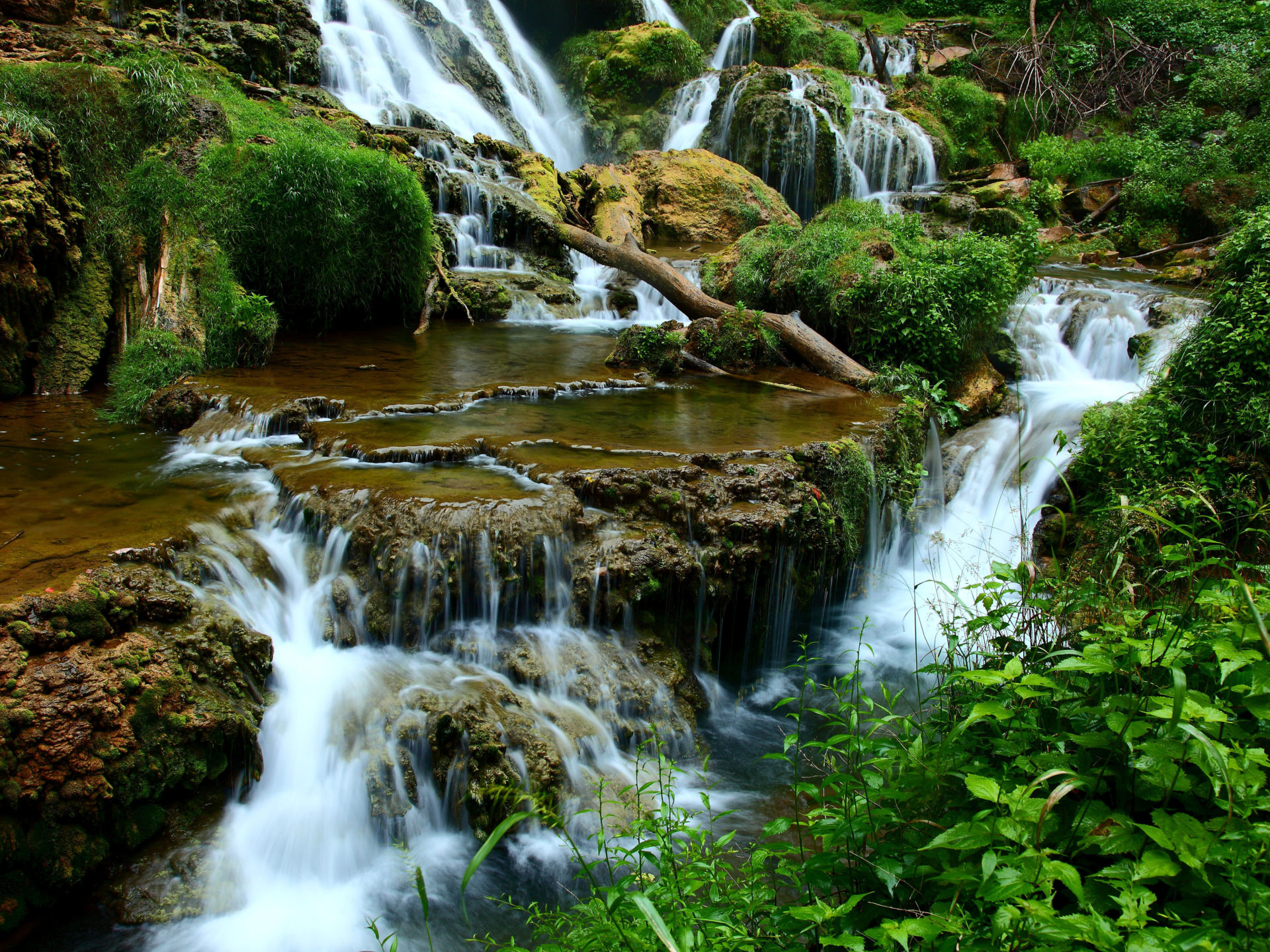 Falls Hd Wallpaper Free Download Cascading Waterfalls Blue Ridge Mountains In Virginia