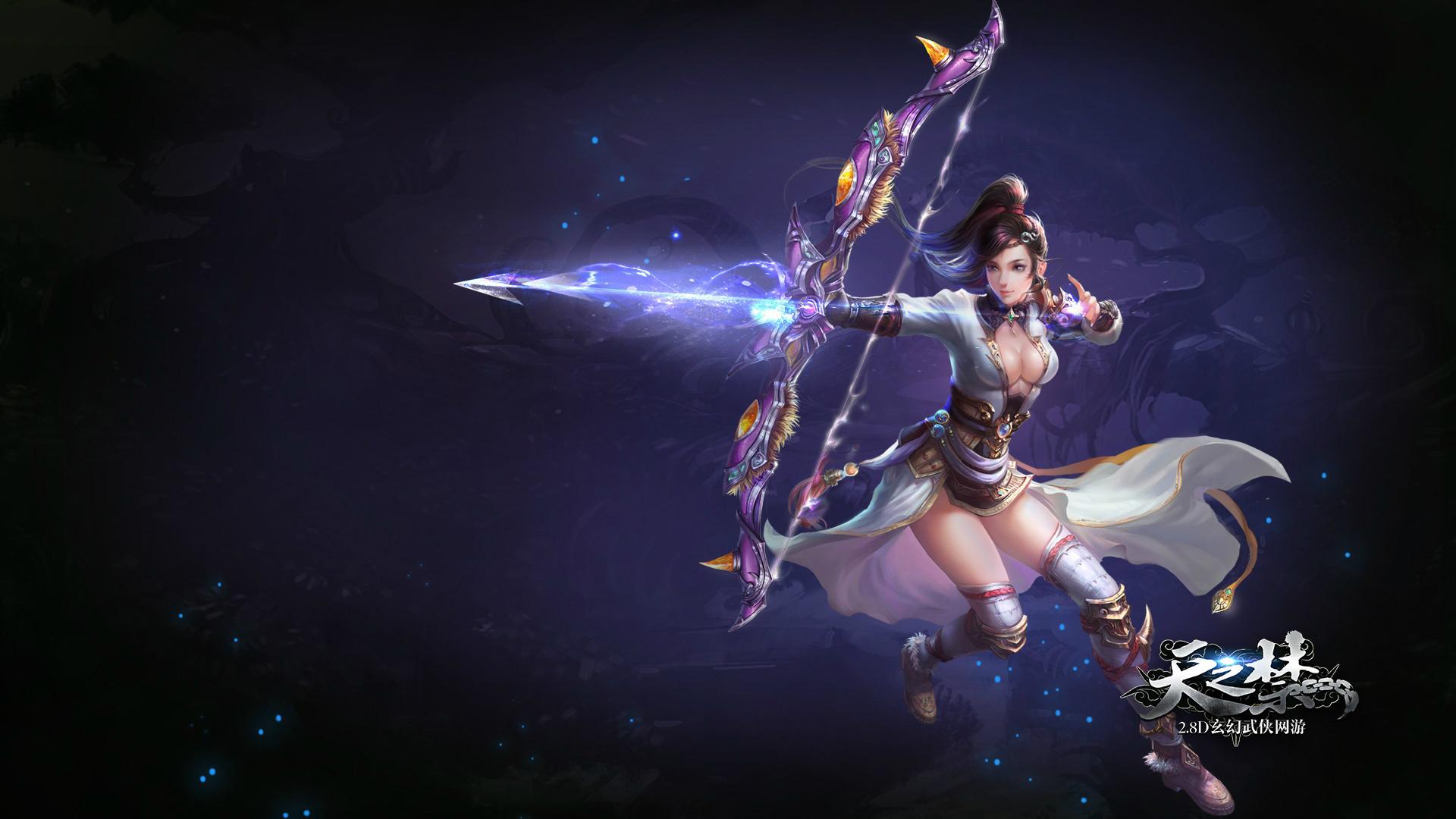 High Resolution Anime Fantasy Girl Wallpaper Days Of The Ban Archer Video Game Fantasy Art Hd Wallpaper