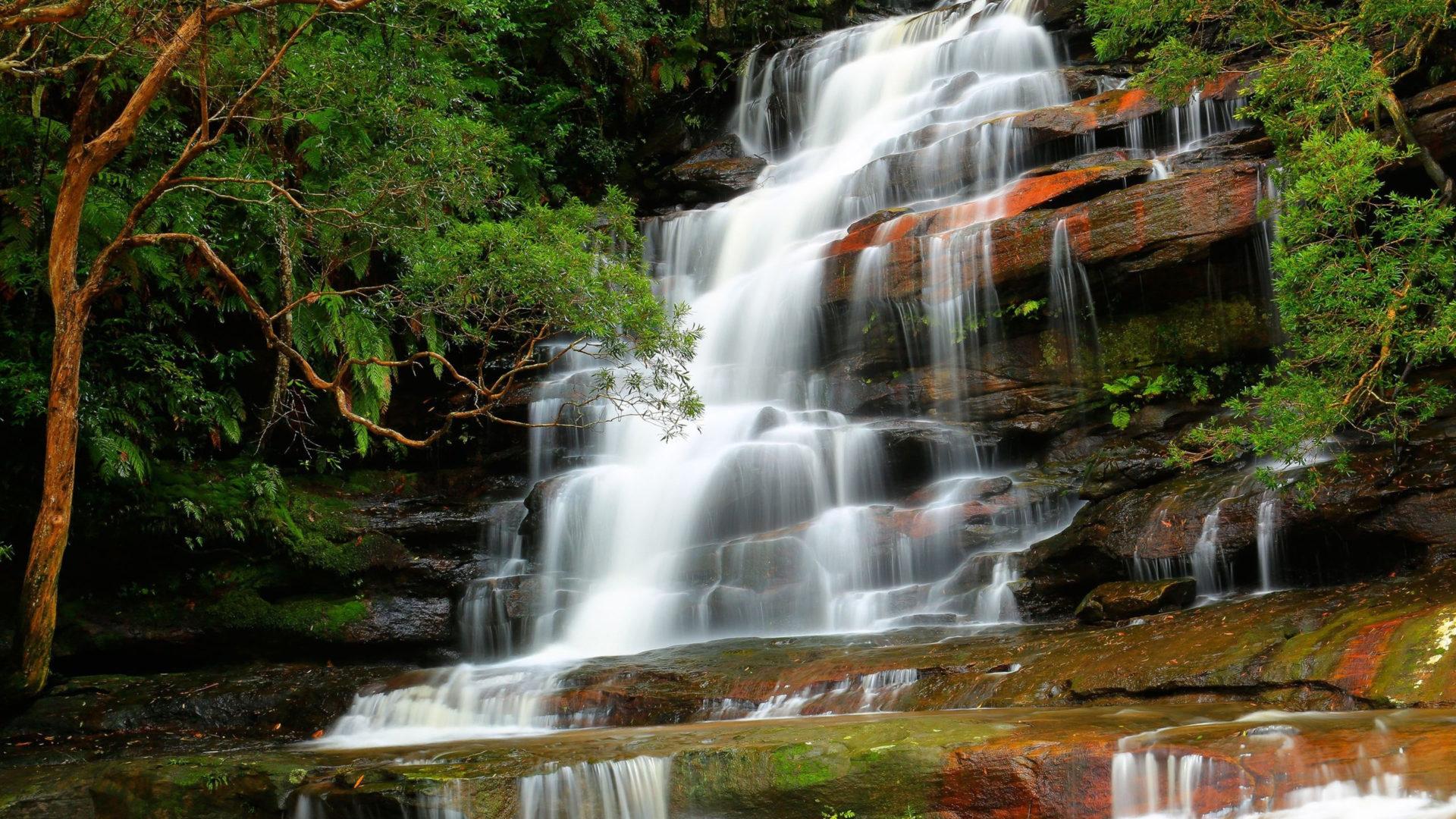 Iguazul Falls Wallpaper Somersby Falls Brisbane Water National Park New South