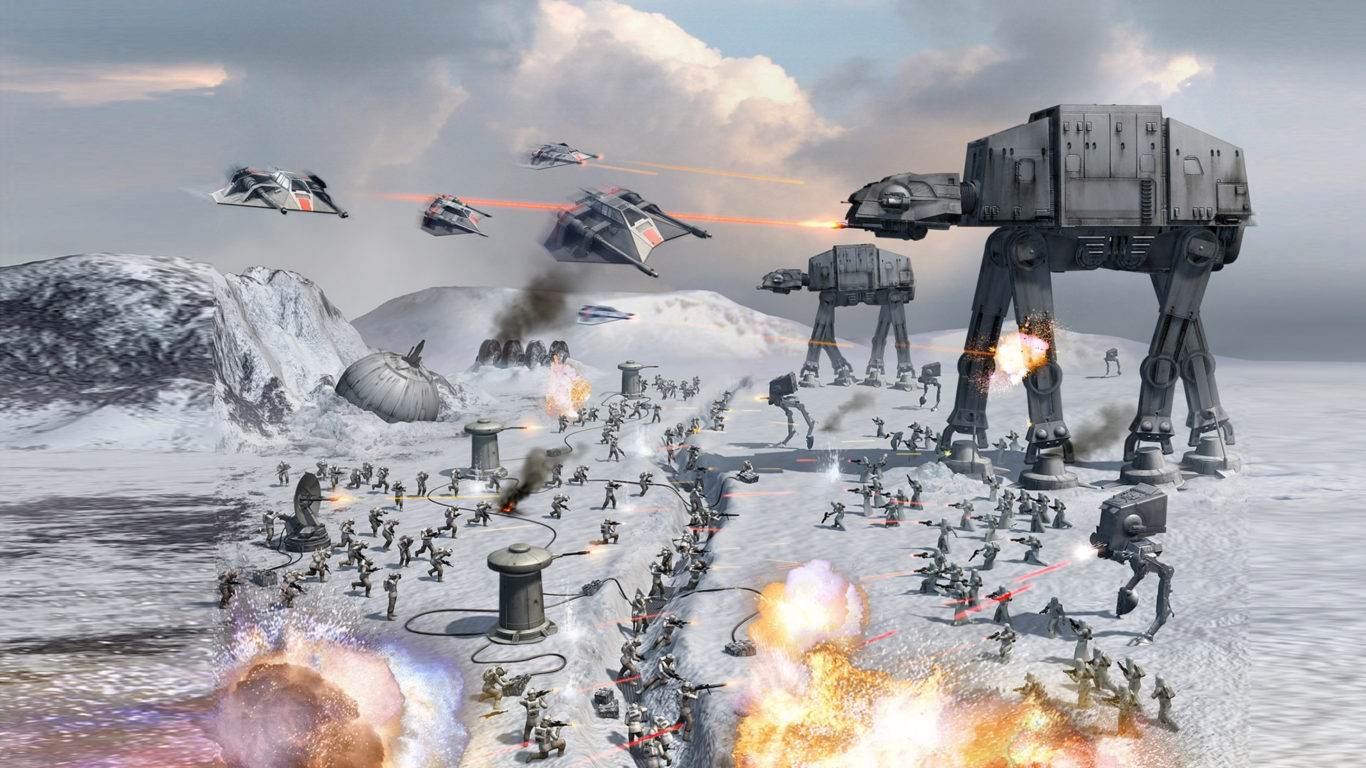 Clone Wars Wallpaper Hd Star Wars Battle For Empire Spacecraft Robots Weapon Laser