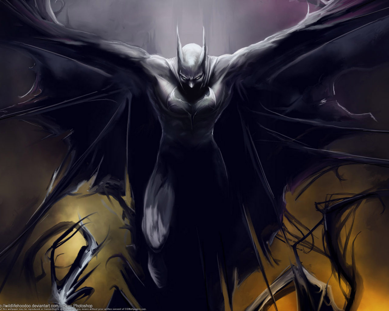 batman wings digital art