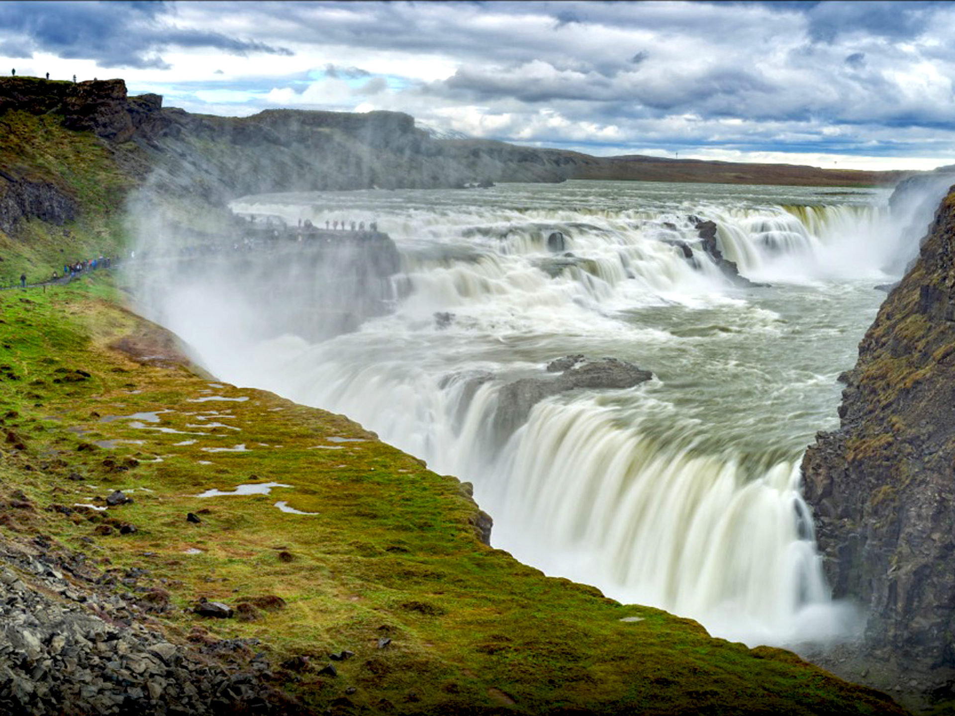 Falls Wallpaper Download Gullfoss Waterfall In Iceland Desktop Wallpaper Hd
