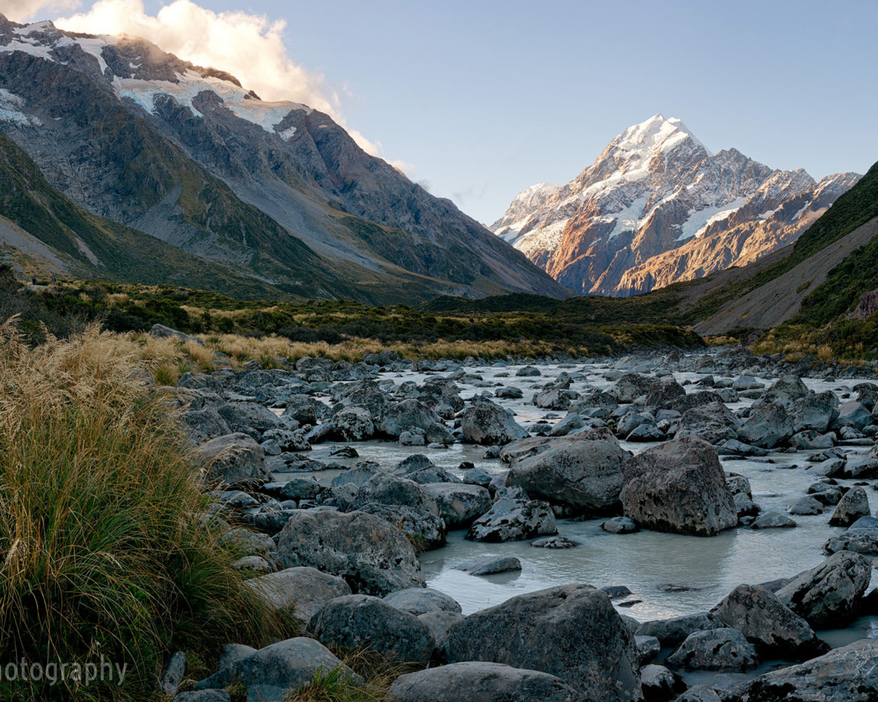 Iphone X Full Wallpaper Size Mount Cook River Panorama Rocky Mountains Snow Rock Blue