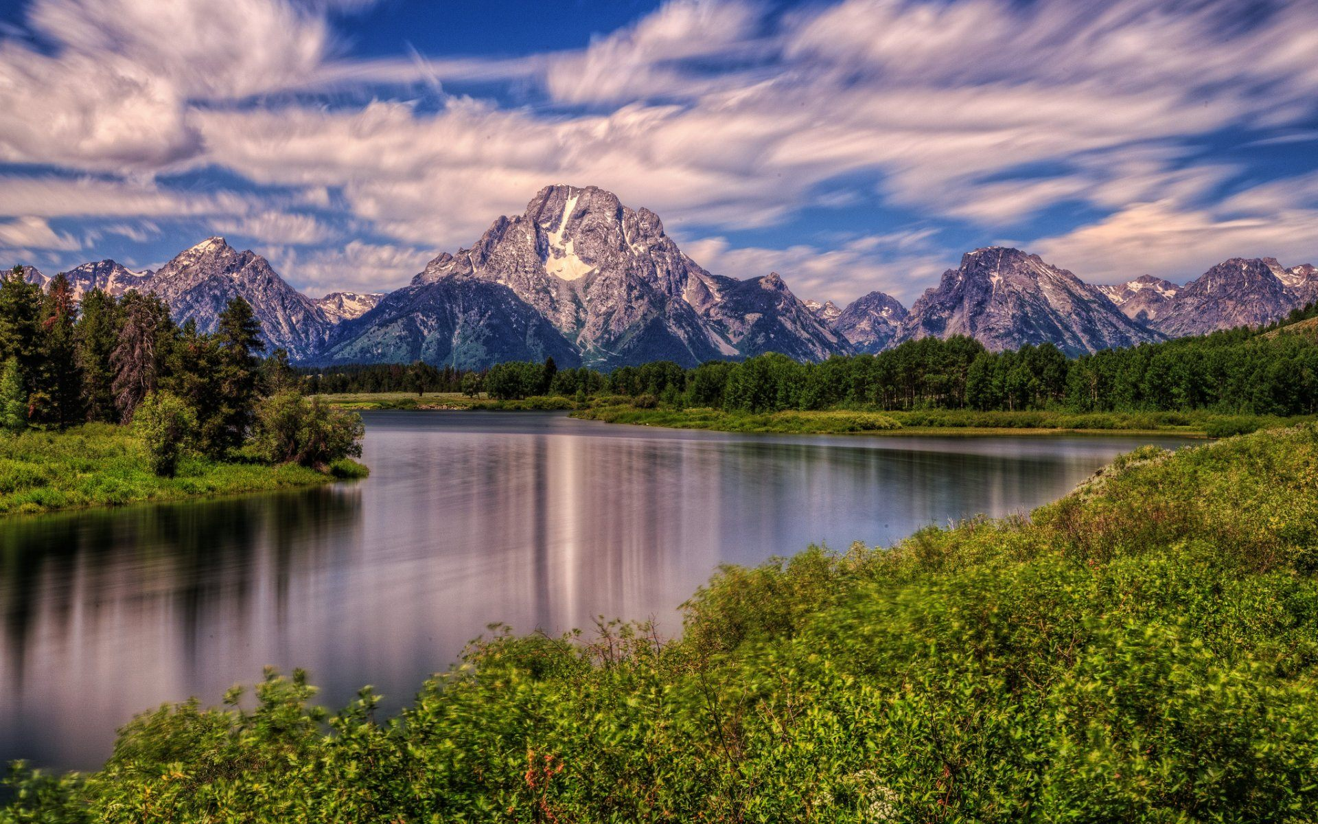 Mountain Landscape Wallpaper Hd Wyoming Usa  Wallpapers13com