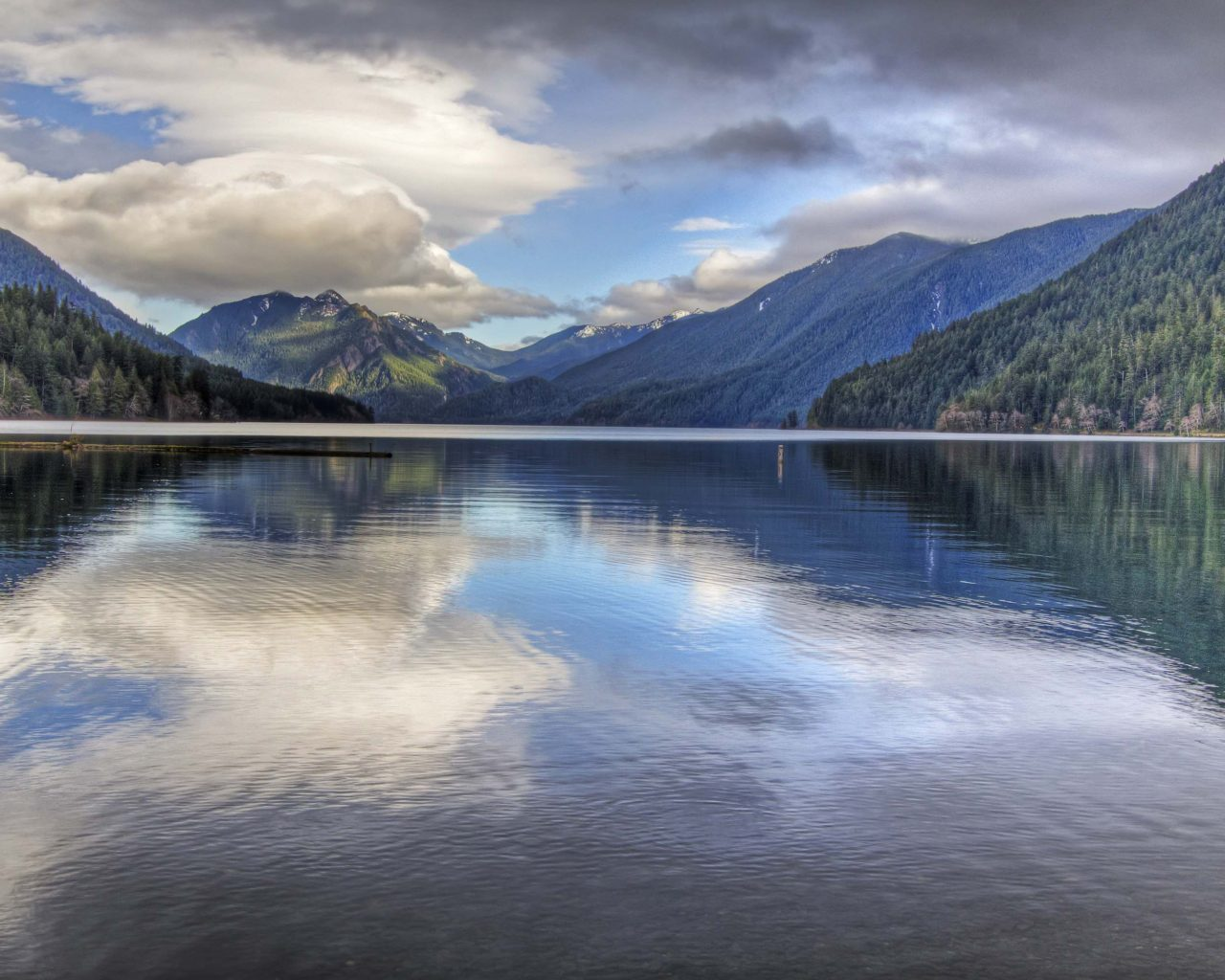 Wallpaper For Iphone 4 Lock Screen Lake Crescent Located In Northwest Washington Wallpaper