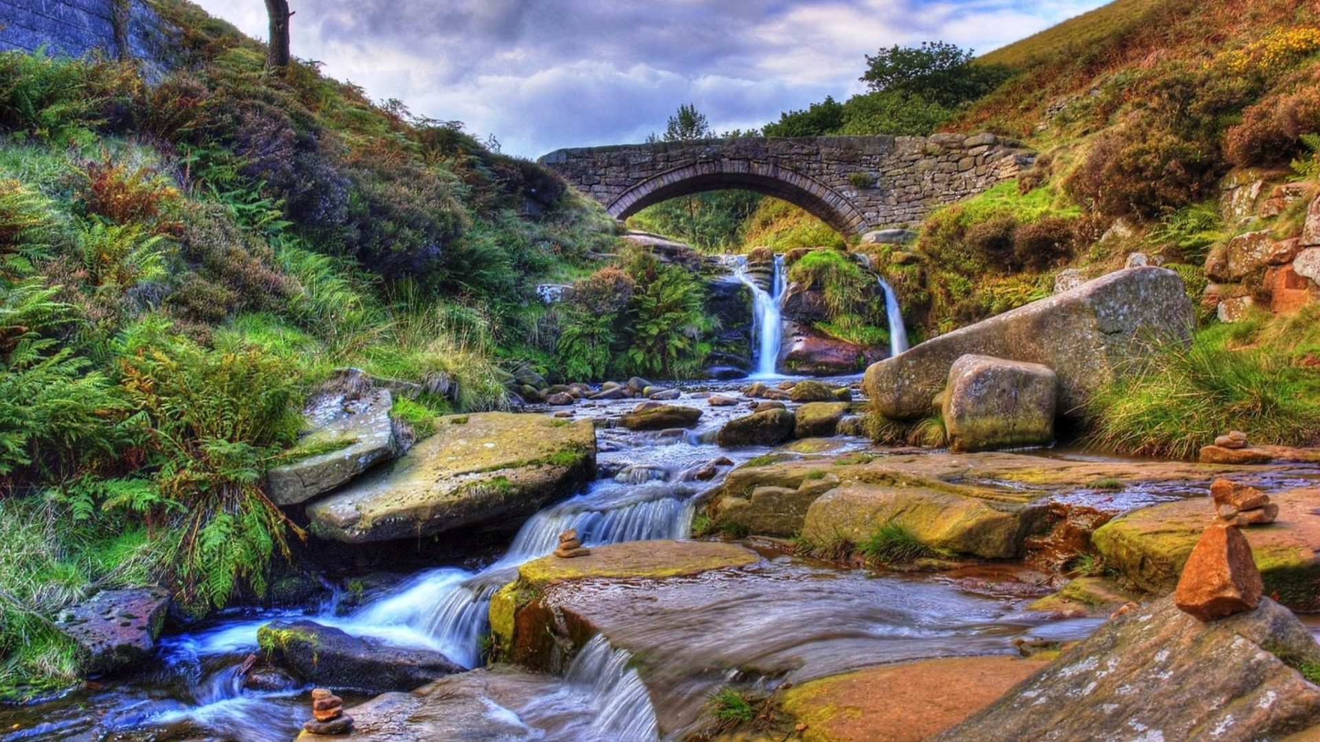Can You Get Moving Wallpapers For Iphone X Mountain Stream Stone Bridge Gully With Rock Widescreen