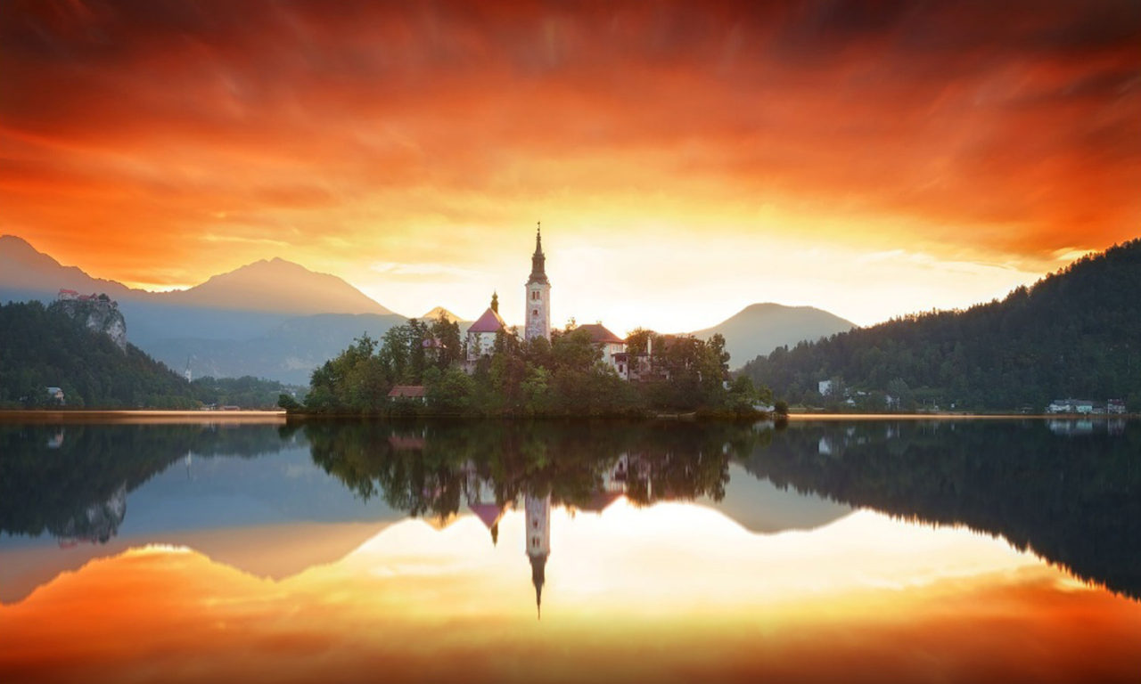 New Hd Wallpapers For Pc Free Download Sunrise Over Bled Slovenia Hd Wallpaper Download For