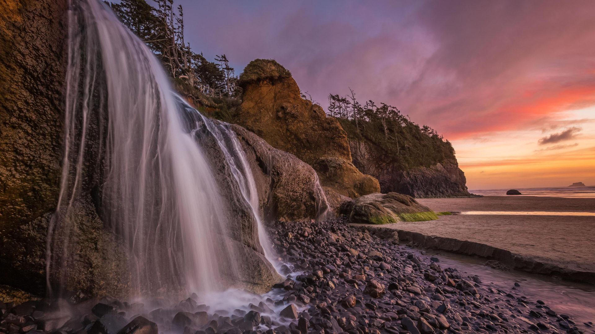 Fall Beach Widescreen Wallpaper Abiqua Falls Oregon Usa Wallpaper Widescreen Hd Resolution