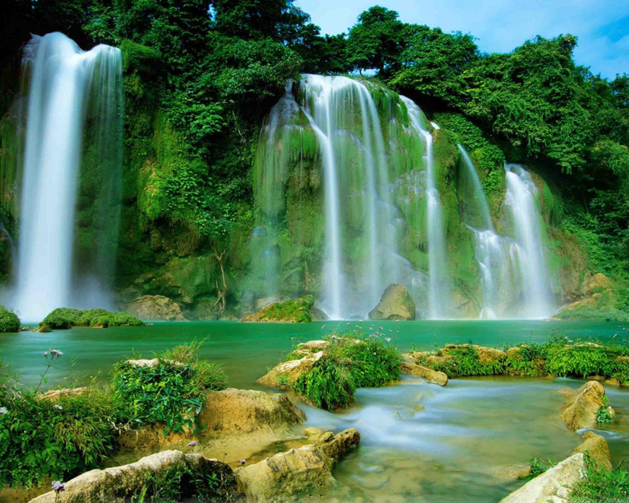 Niagara Falls Hd Wallpaper Ba Be Lake Ban Gioc Detian Falls Vietnam And China Hd