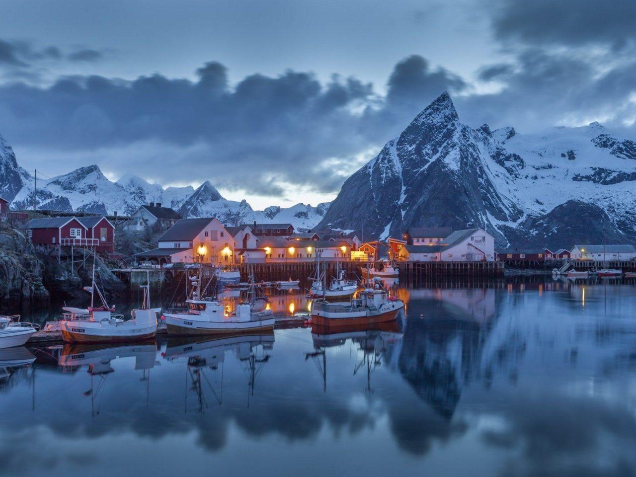 Beautiful Scenery Moskenes Norway Desktop Hd Wallpaper