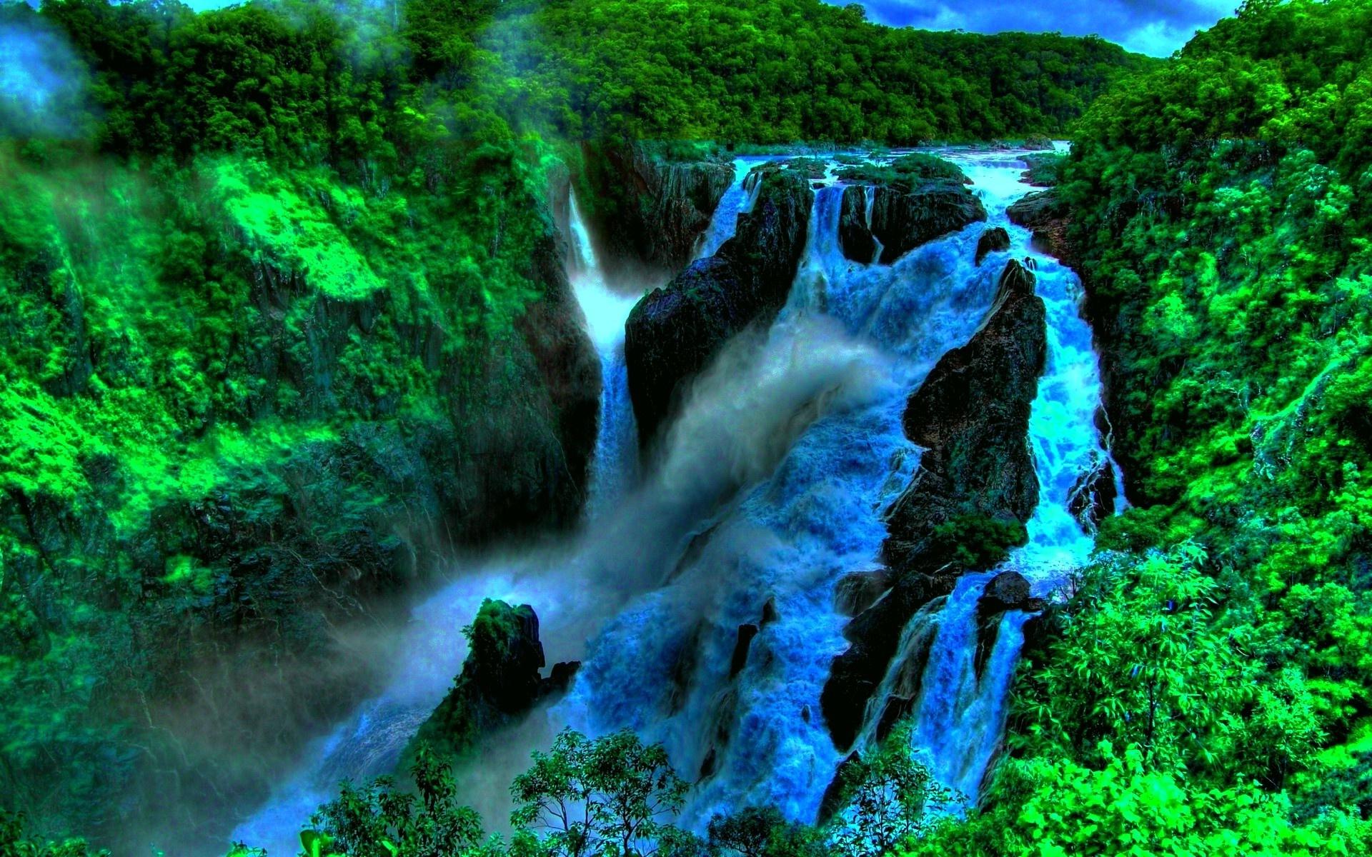 Fall Mountains Hd Wallpaper 13 Deep In The Jungle Beautiful Waterfall In Tropical Green
