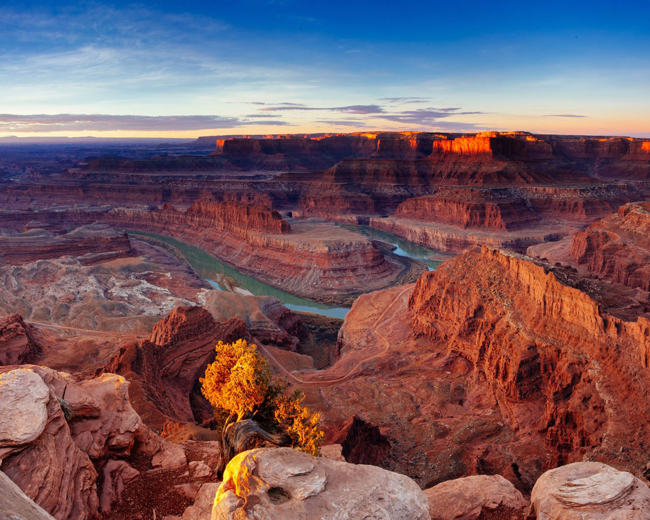 High Resolution Wallpaper Fall Desert Sunrise Scenery Canyonlands National Park Utah