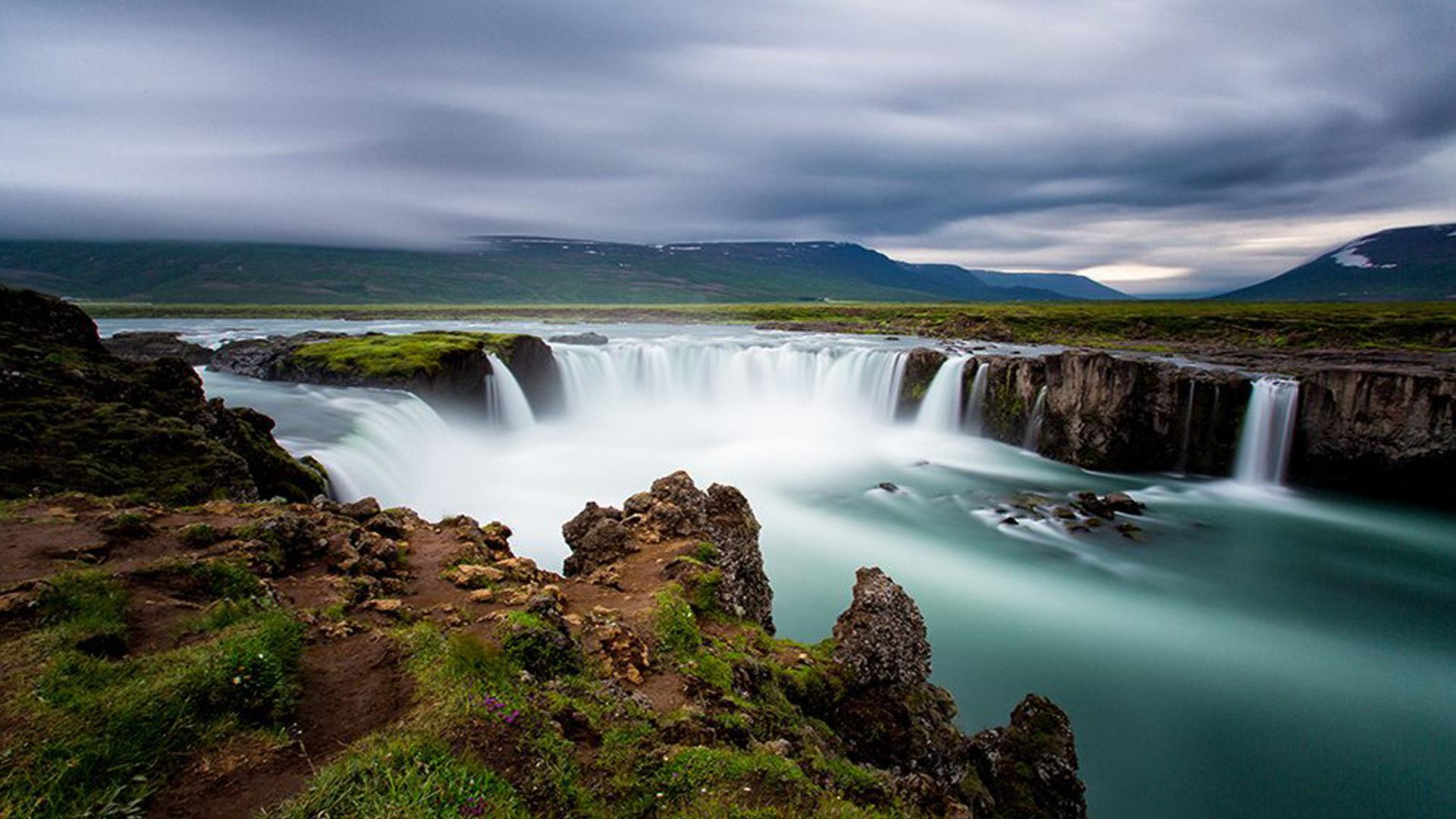 Niagara Falls Wallpaper Iphone Go 240 Afoss Falls Iceland Full Hd Wallpapers 1920x1200