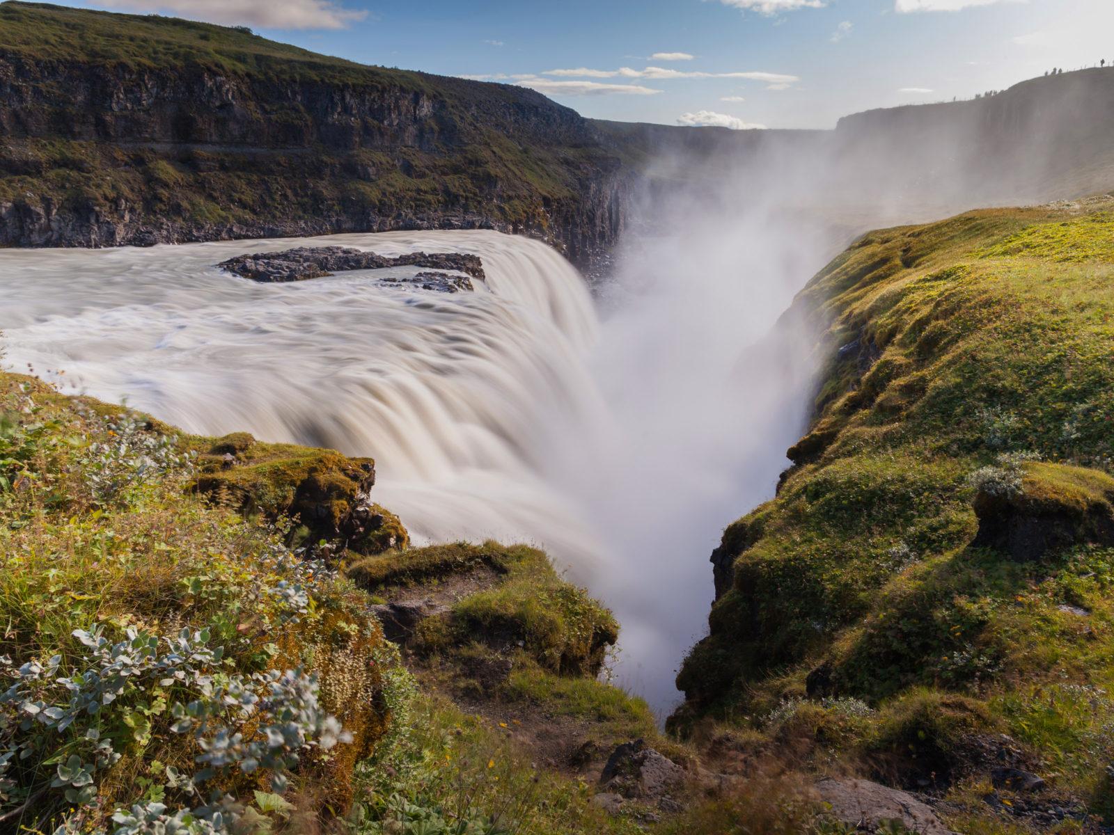 Free Widescreen Wallpaper Fall Gullfoss Su 240 Urland Iceland Widescreen Hd Resolution