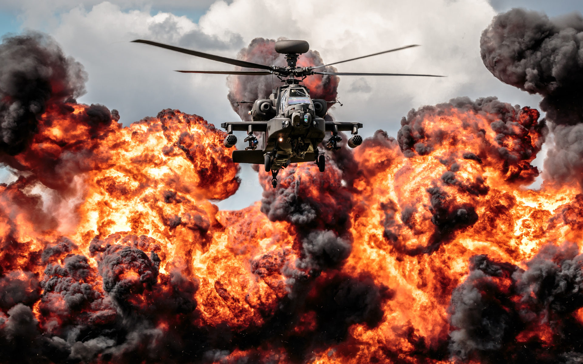 Black Hawk Helicopter Wallpapers Hd Helicopter Apache Explosion Fire Hd Desktop Wallpaper