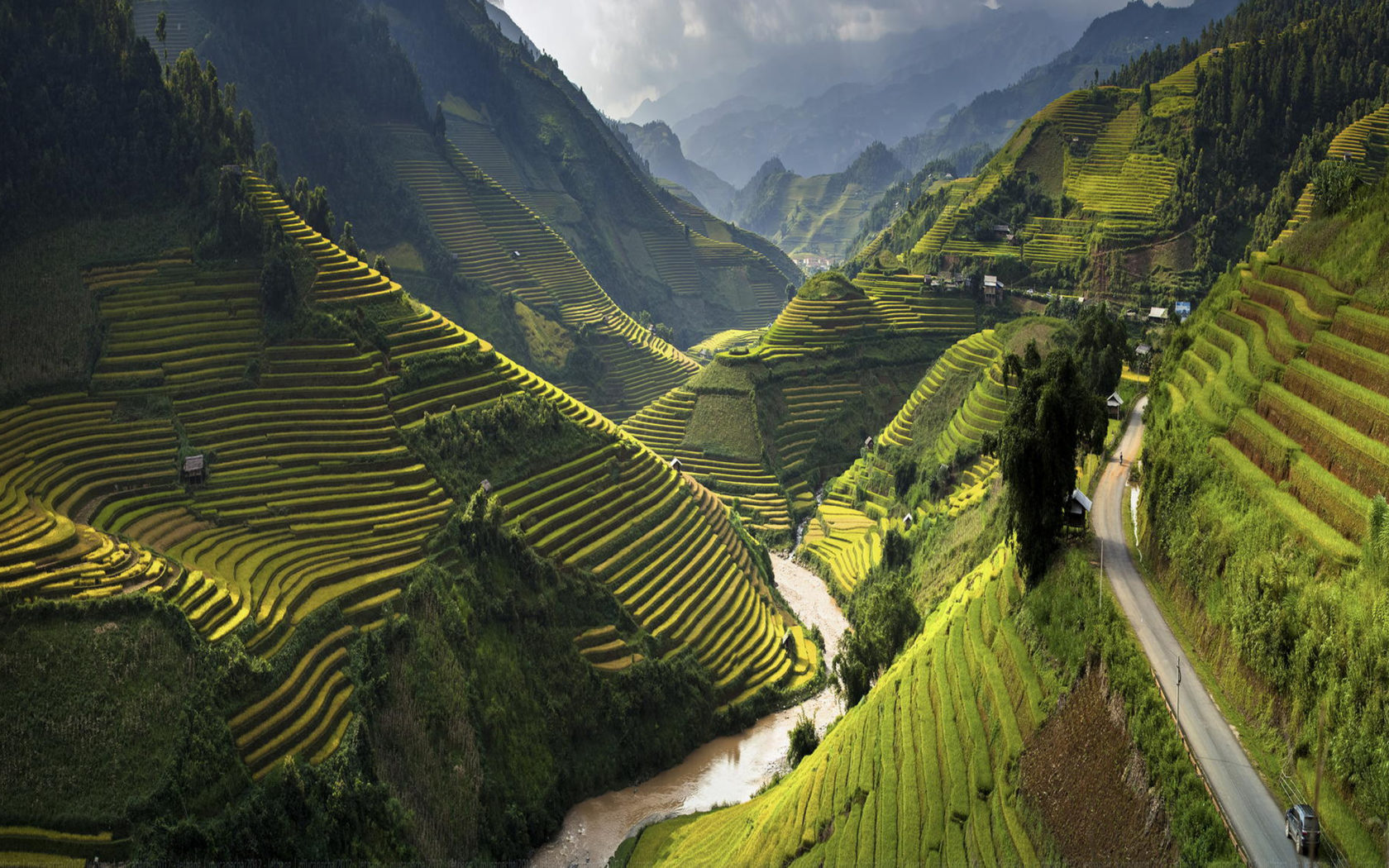 Beautiful Cars Hd Wallpapers Download Landscape Terasasti Fields With Rice Mu Cang Chai District