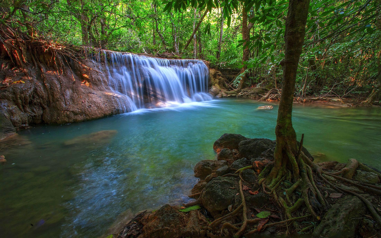 Niagara Falls Wallpaper Iphone Wonderful Tropical Waterfall In Jungle Pool With Turquoise