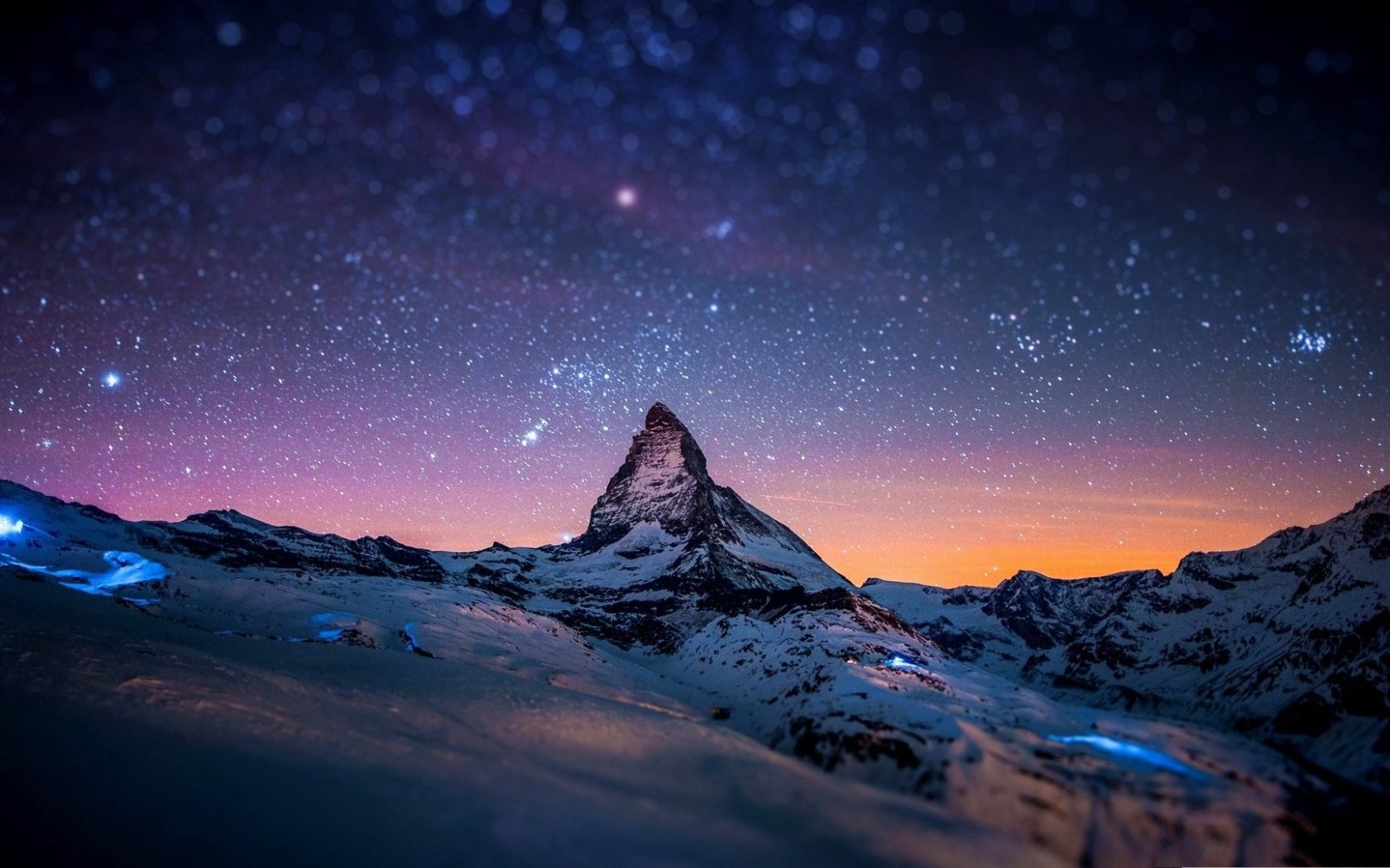 Fall Winter Iphone Wallpaper Snowy Winter Night Mountains With Snow Hd Wallpaper For