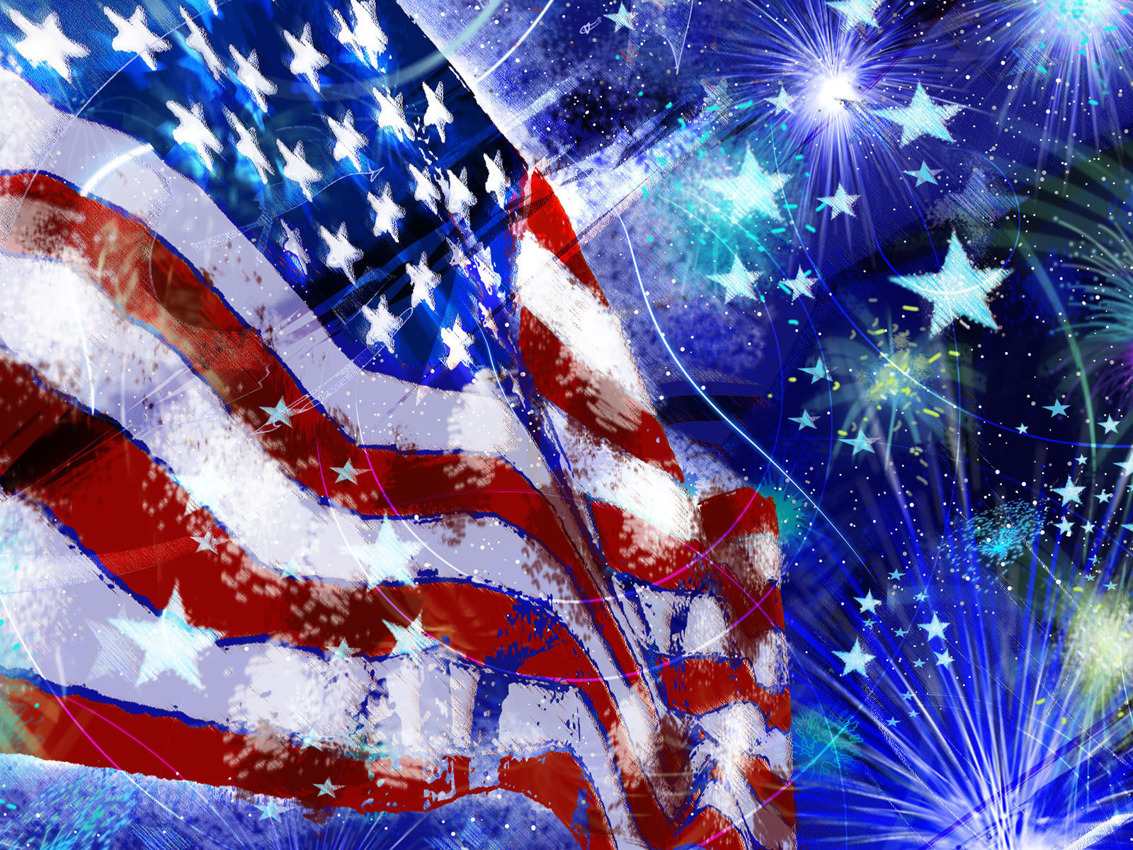 Fall Leaves Wallpaper Windows 7 American Flag Red White Blue Fireworks Stars Independence