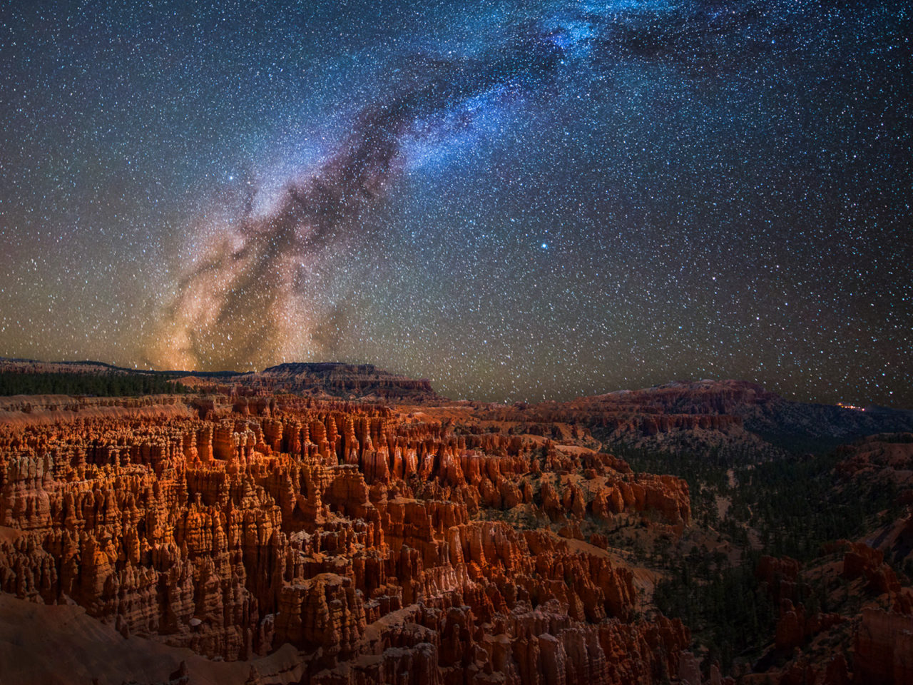 Free Beautiful Desktop Wallpapers For The Fall Milky Way Bryce Canyon National Park Utah United States