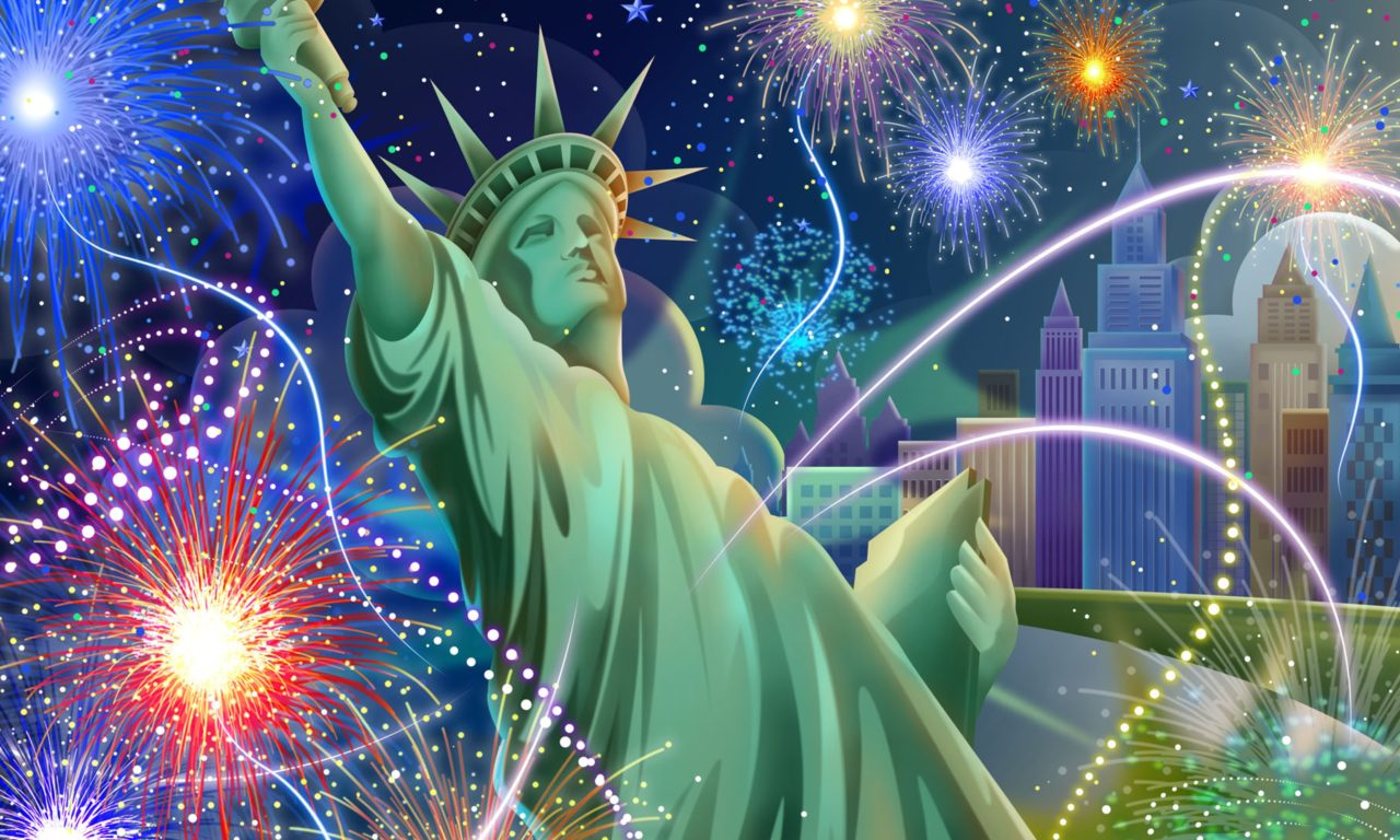 Iphone X New York Wallpaper Statue Of Liberty July 4 Independence Day Celebration