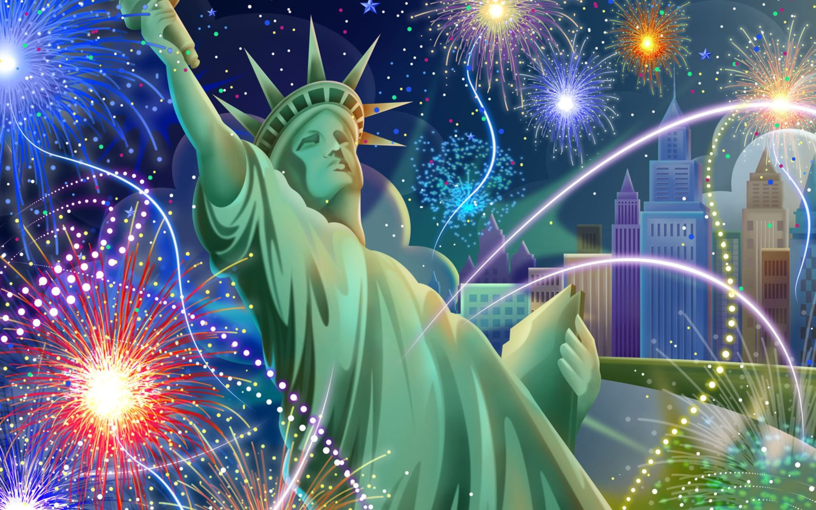 Colorful Wallpaper For Iphone X Statue Of Liberty July 4 Independence Day Celebration
