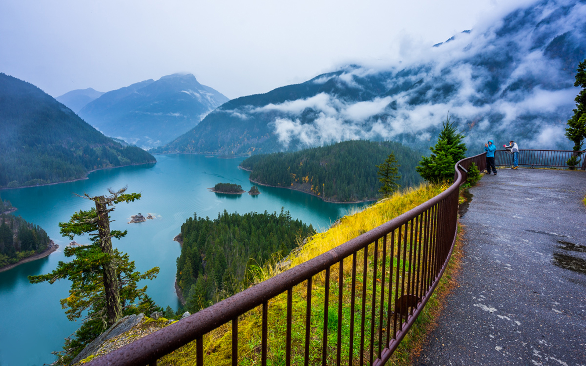 Wallpaper For Phones Fall Autumn Landscape Diablo Lake Overlook North Cascades