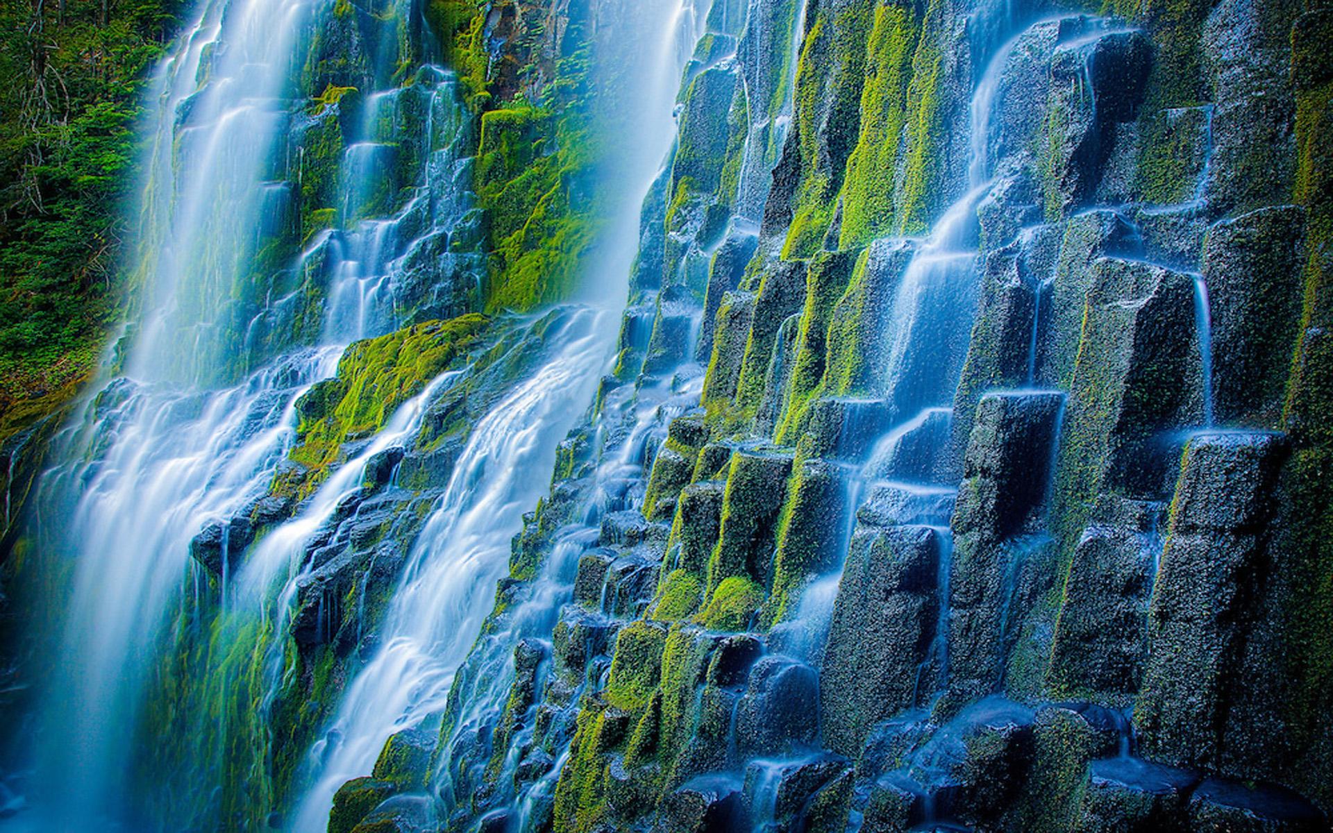 Iguazu Falls Wallpaper 1920x1200 Beautiful Proxy Falls State Park In The Three Sisters